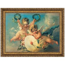 La Cible D'Amour, 1758 by Francois Boucher Framed Painting Print