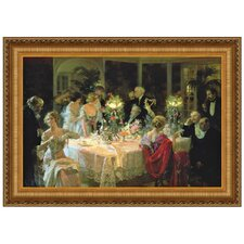 The End of Dinner by Jules Alexander Grun Framed Painting Print