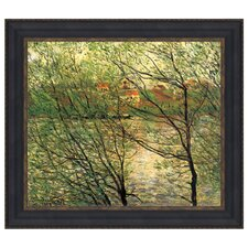 The Isle Grande-Jatte on the Seine, 1878 by Claude Monet Framed Painting Print