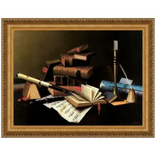 Music and Literature, 1878 by William Michael Harnett Framed Painting Print