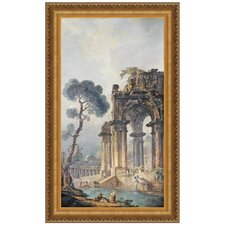 The Ruins Near The Water, 1779 by Hubert Robert Framed Painting Print