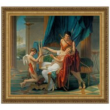 Sappho and Phaon, 1809 by Jacques-Louis David Framed Painting Print
