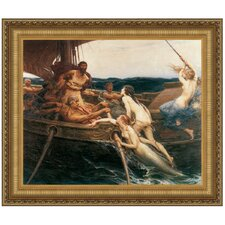 Ulysses and the Sirens, 1909 by Herbert James Draper Framed Painting Print