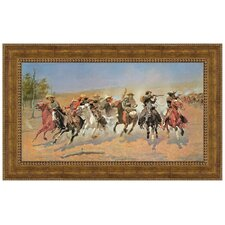 A Dash for the Timber, 1889 by Frederic S. Remington Framed Painting Print