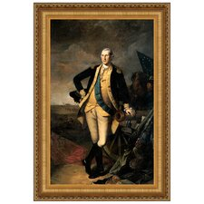 George Washington at the Battle of Princeton, 1781 by Charles Willson Peale Framed Painting Print