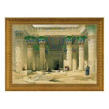 Grand Portico of the Temple of Philae by David Roberts Framed Painting Print