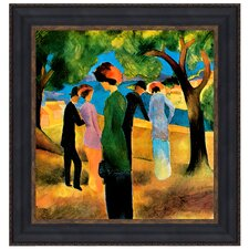 Lady in a Green Jacket, 1913 by August Macke Framed Painting Print