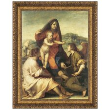 The Virgin and Child with a Saint and an Angel, 1509 - 1514 by Andrea del Sarto Framed Painting Print