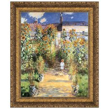 The Artist's Garden at Vetheuil, 1880 by Claude Monet Framed Painting Print