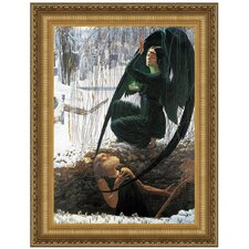<strong>Design Toscano</strong> The Death of the Gravedigger, 1895 Replica Painting Canvas Art