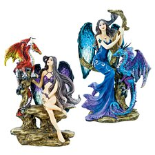 2 Piece Gothic Mistresses Fire and Ice Figurine