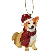 Welsh Corgi Holiday Dog Ornament Sculpture