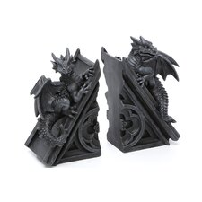 <strong>Design Toscano</strong> Gothic Castle Dragons Sculptural Book Ends (Set of 2)