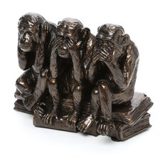 <strong>Design Toscano</strong> See, Hear, Speak No Evil Monkey Trio Sculpture