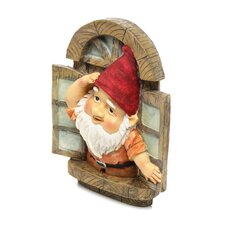 The Knothole Window Gnome Garden Welcome Tree Statue