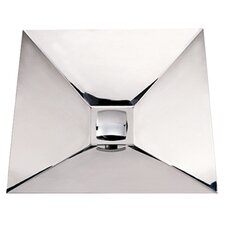 Noah's Square Polished Stainless Steel Bathroom Sink