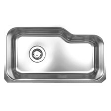 "<strong>Whitehaus Collection</strong> Noah 32.13"" x 18.38"" Single Bowl Undermount Kitchen Sink"