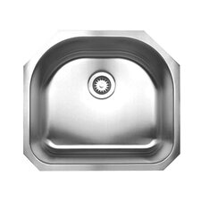 "<strong>Whitehaus Collection</strong> Noah 23.25"" x 21"" Single Bowl Undermount Kitchen Sink"