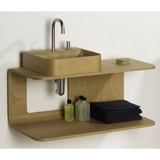 Aeri Wall Mount Wood Structure Dual Shelf
