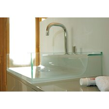 <strong>Whitehaus Collection</strong> Aeri Vetro Glass Above Mount Bathroom Sink