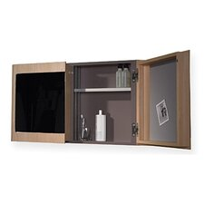 "<strong>Whitehaus Collection</strong> Aeri 37.75"" x 21.75"" Surface Mount Medicine Cabinet"