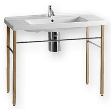 China Rectangular Console Bathroom Sink