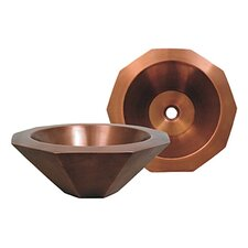 <strong>Whitehaus Collection</strong> Copperhaus Decagon Bathroom Sink
