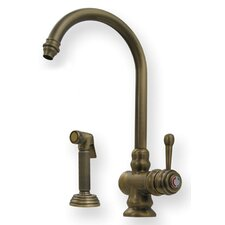 <strong>Whitehaus Collection</strong> Evolution Colonial One Handle Single Hole Kitchen Faucet with Fluted Side Spray