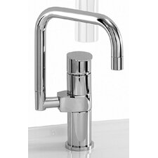 <strong>Whitehaus Collection</strong> Gyro Single Hole Kitchen Faucet with Less Handle and Dual Swivel Spout