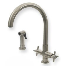Luxe Two Handle Single Hole Kitchen Faucet