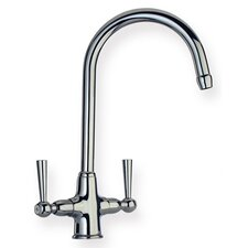 <strong>Whitehaus Collection</strong> Metrohaus Two Handle Single Hole Bar Faucet with Gooseneck Swivel Spout and Dual Handles