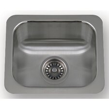 "New England 14.5"" x 12.5"" Undermount Small Semi Square Kitchen Sink"
