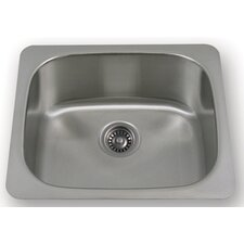 "New England 21"" x 17.88"" Undermount Large Semi Square Kitchen Sink"