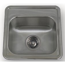 "<strong>Whitehaus Collection</strong> New England 15"" x 15"" Drop-in Small Square Kitchen Sink with Two Hole"