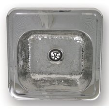 "<strong>Whitehaus Collection</strong> Entertainment 15"" x 15"" Prep Square Drop in Kitchen Sink"