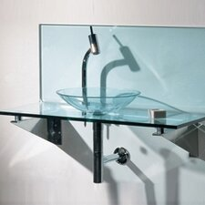 <strong>Whitehaus Collection</strong> New Generation L-Shaped Top System Bathroom Sink