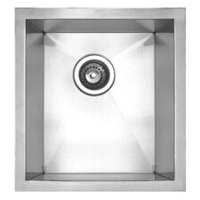 "<strong>Whitehaus Collection</strong> Noah's 15"" x 17.38"" Chefhaus Single Bowl Undermount Kitchen Sink"