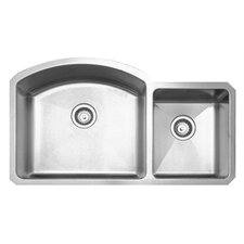 "<strong>Whitehaus Collection</strong> Noah's 36.88"" x 20.88"" Chefhaus Double Bowl Undermount Kitchen Sink"