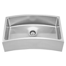 "Noah's 31.63"" x 18.13"" Chefhaus Single Bowl Front Apron Undermount Kitchen Sink"