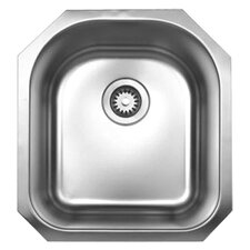 "<strong>Whitehaus Collection</strong> Noah's 18.13"" x 20"" Single Bowl Undermount Kitchen Sink"