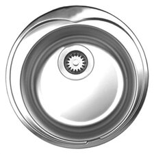 "<strong>Whitehaus Collection</strong> Noah's 20"" x 20"" Round Drop-in Kitchen Sink"