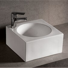 Isabella Thick Square Bathroom Sink with Center Drain