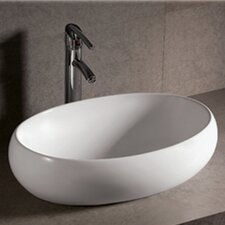 Isabella Oval Bathroom Sink with Offset Center Drain