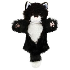 <strong>The Puppet Company</strong> CarPets Cat Puppet in Black and White