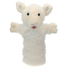 Long-Sleeved Sheep Glove Puppet in White