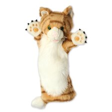 Long-Sleeved Ginger Cat Glove Puppet
