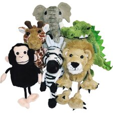 African Animals Finger Puppet 6 Piece Set