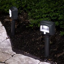 Battery Powered Motion Sensing LED Remote Path Light (Set of 2)