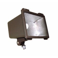 100W HPS 120v Small Flood Light with Post Top Fitter in Bronze
