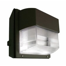 100W HPS 120 Volts Intermediate Polycarbonate Wall Light in Bronze
